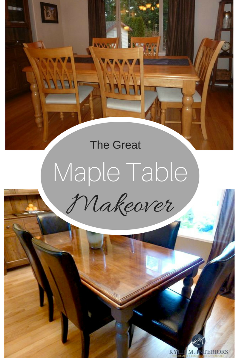 How To Refinish And Update A Maple Table Maple Tables Table Makeover Dining Table Makeover
