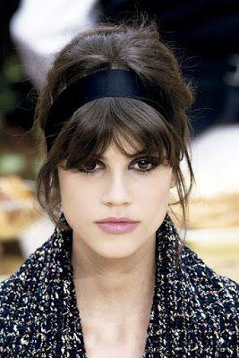 La Moda En Tu Cabello Modernos Peinados Recogidos Con Flequillo - Peinados-flequillo-recogido