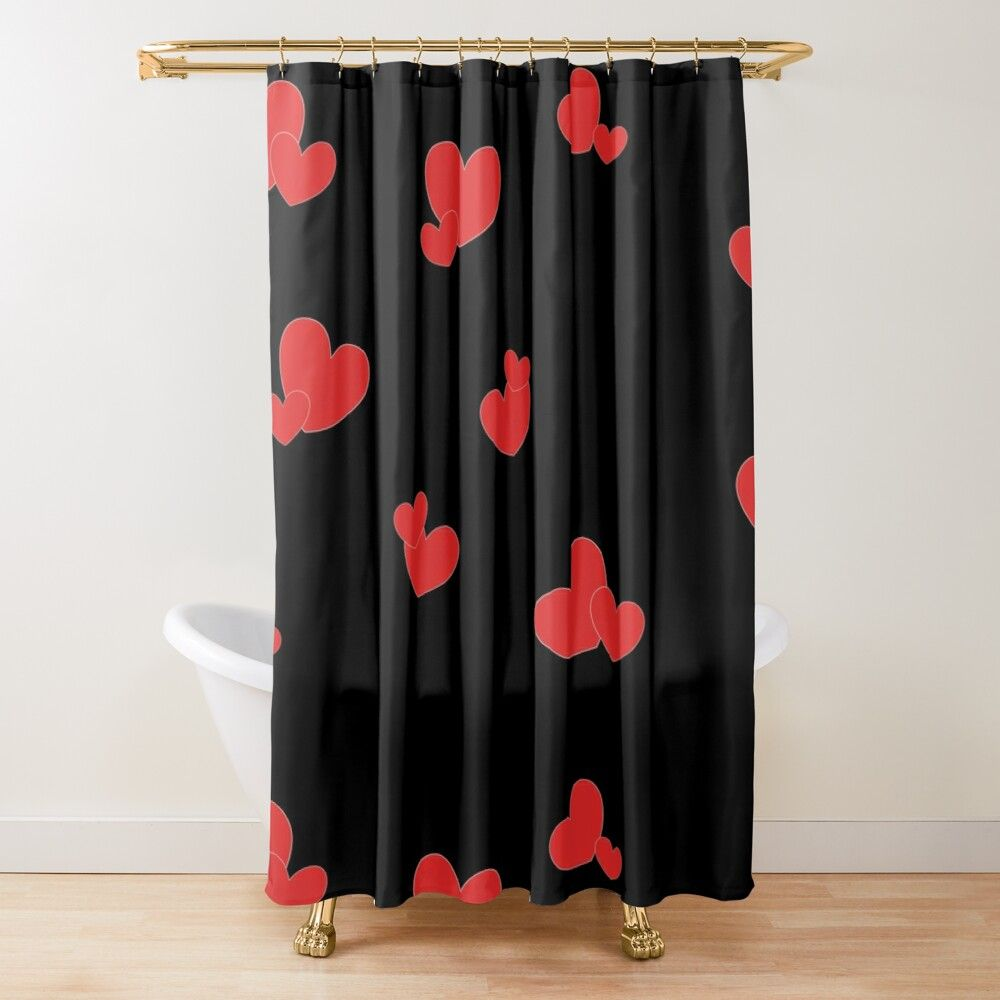 Get My Art Printed On Awesome Products Support Me At Redbubble Rbandme Https Www Redbubble Com I Shower Curtai Red Heart Patterns Heart Patterns Red Heart