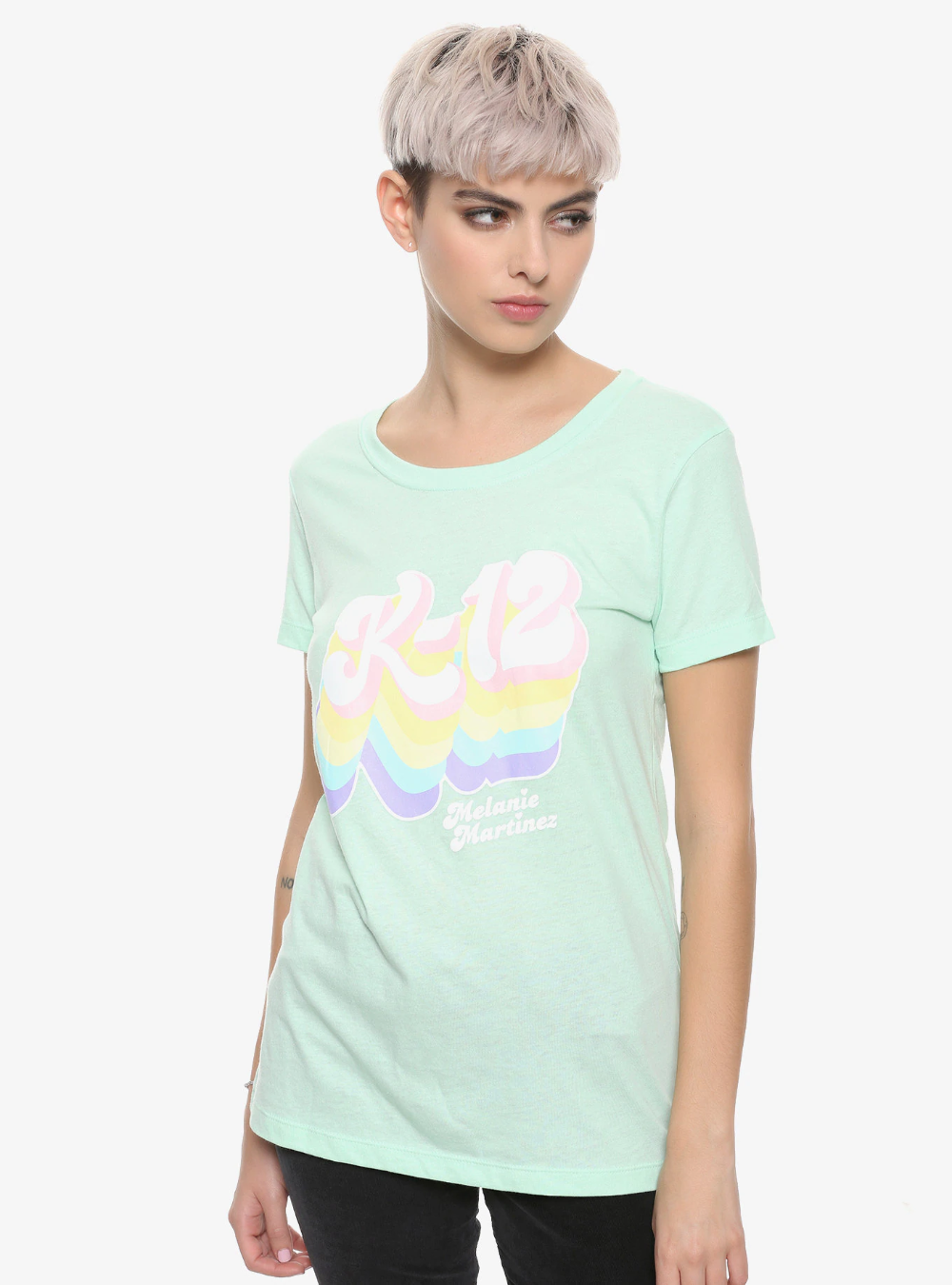 Melanie Martinez K12 Rainbow Logo Girls TShirt imagens)