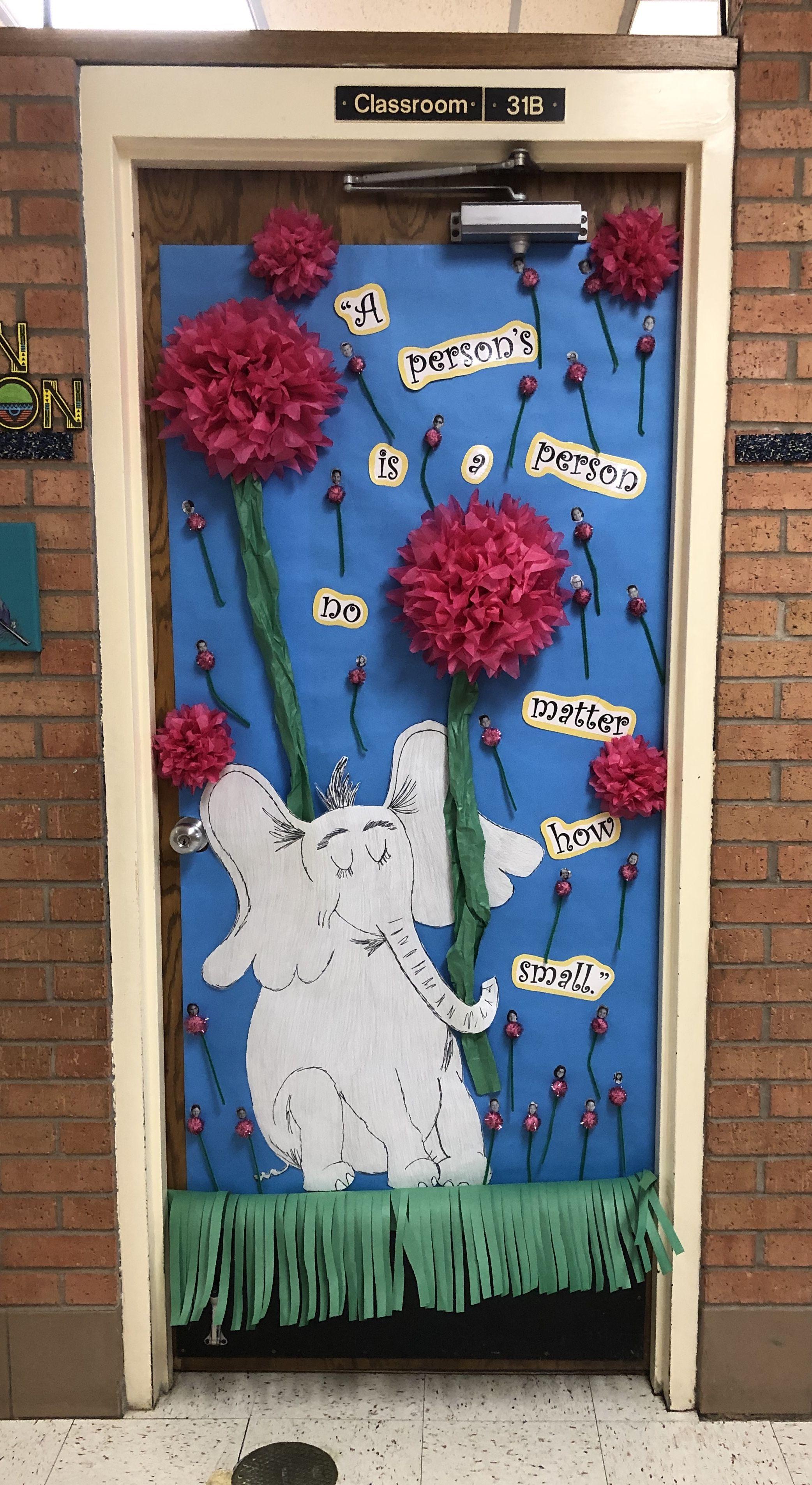 """Dr. Seuss door decoration """"Horton Hears a Who""""   Dr seuss ..."""