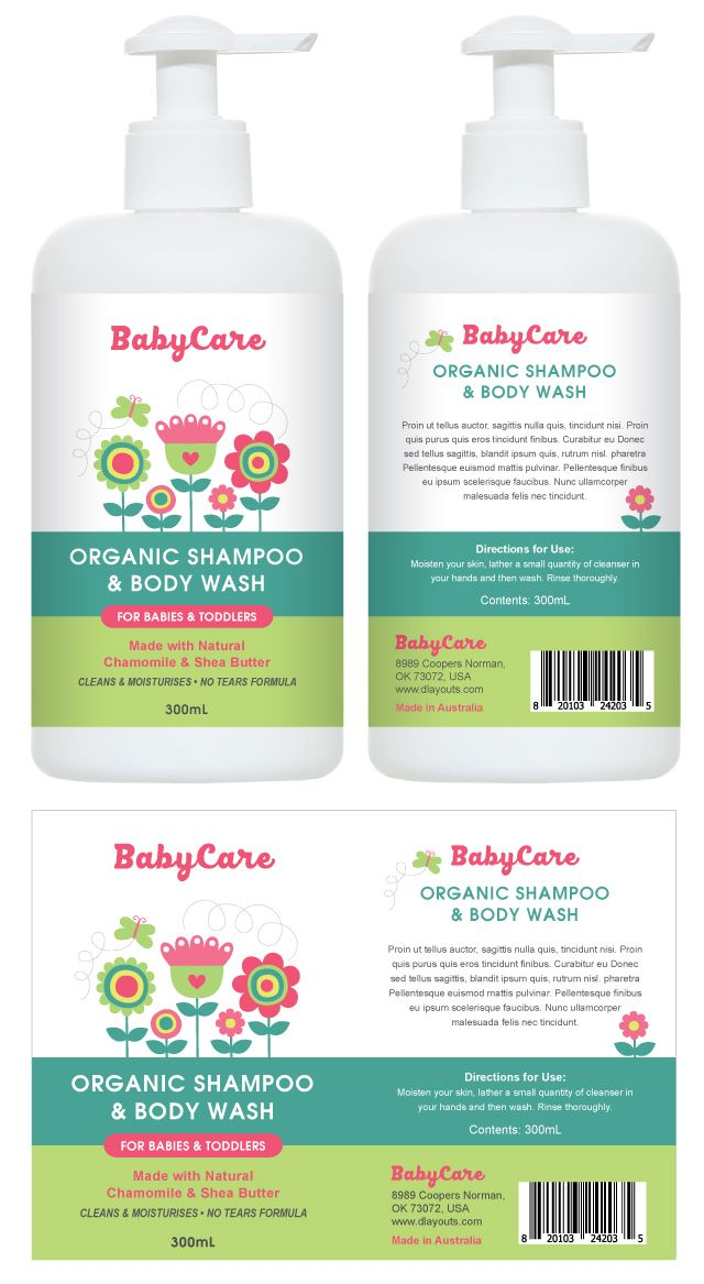 Baby Shampoo  Body Wash Label Template HttpWwwDlayoutsCom
