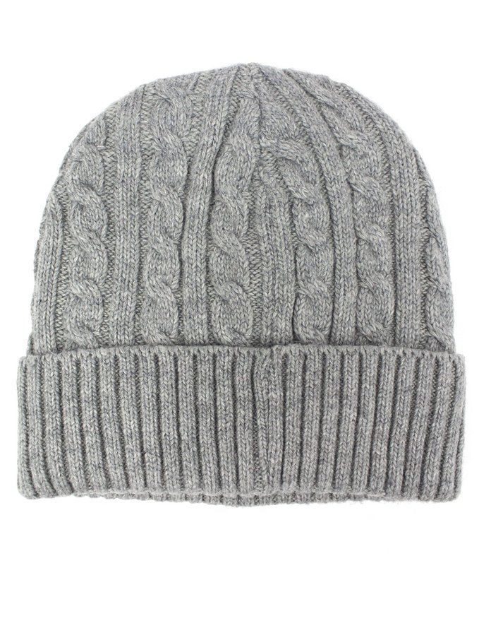 Dahlia Men s Cable Wool Blend Beanie Hat - Soft   Warm Velour Lined - Dark  Gray at Amazon Men s Clothing store  00bb2b5cf8b