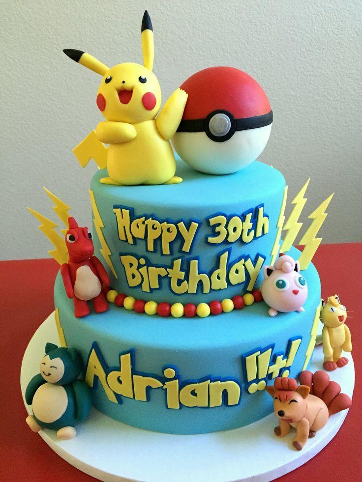 Pokemon Pikachu birthday cake. All made with Cake Couture Fondant