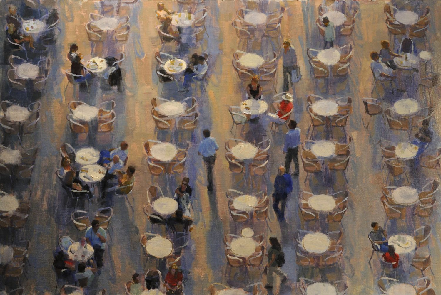 Charles Iarrobino - Long Shadows In San Marco 24x36 Oil on linen ...
