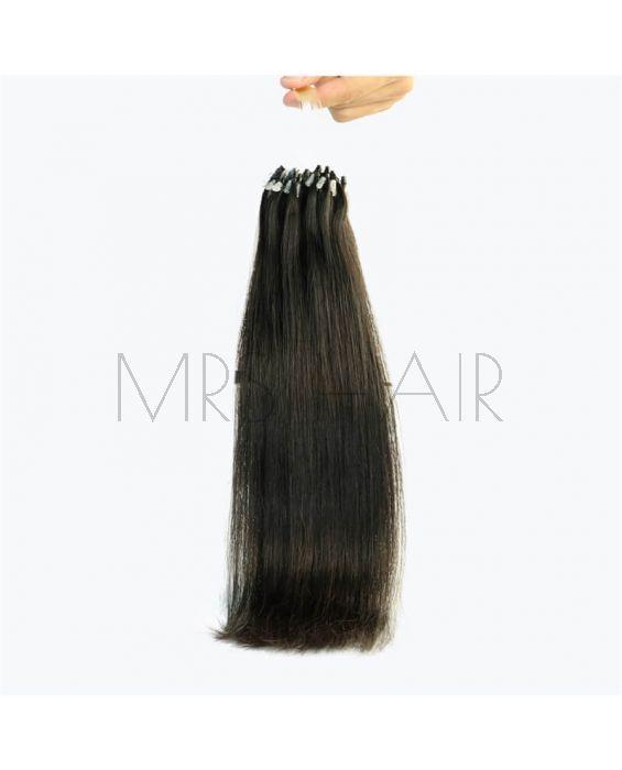 Mrs Loop Micro Ring Hair Remy Micro Bead Links Hair Extension 1b