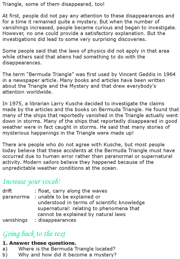 Grade 8 Reading Lesson 5 Nonfiction The Mystery Of The Bermuda ...