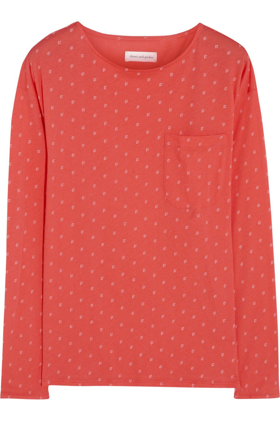 Chinti and ParkerStar-print organic cotton top