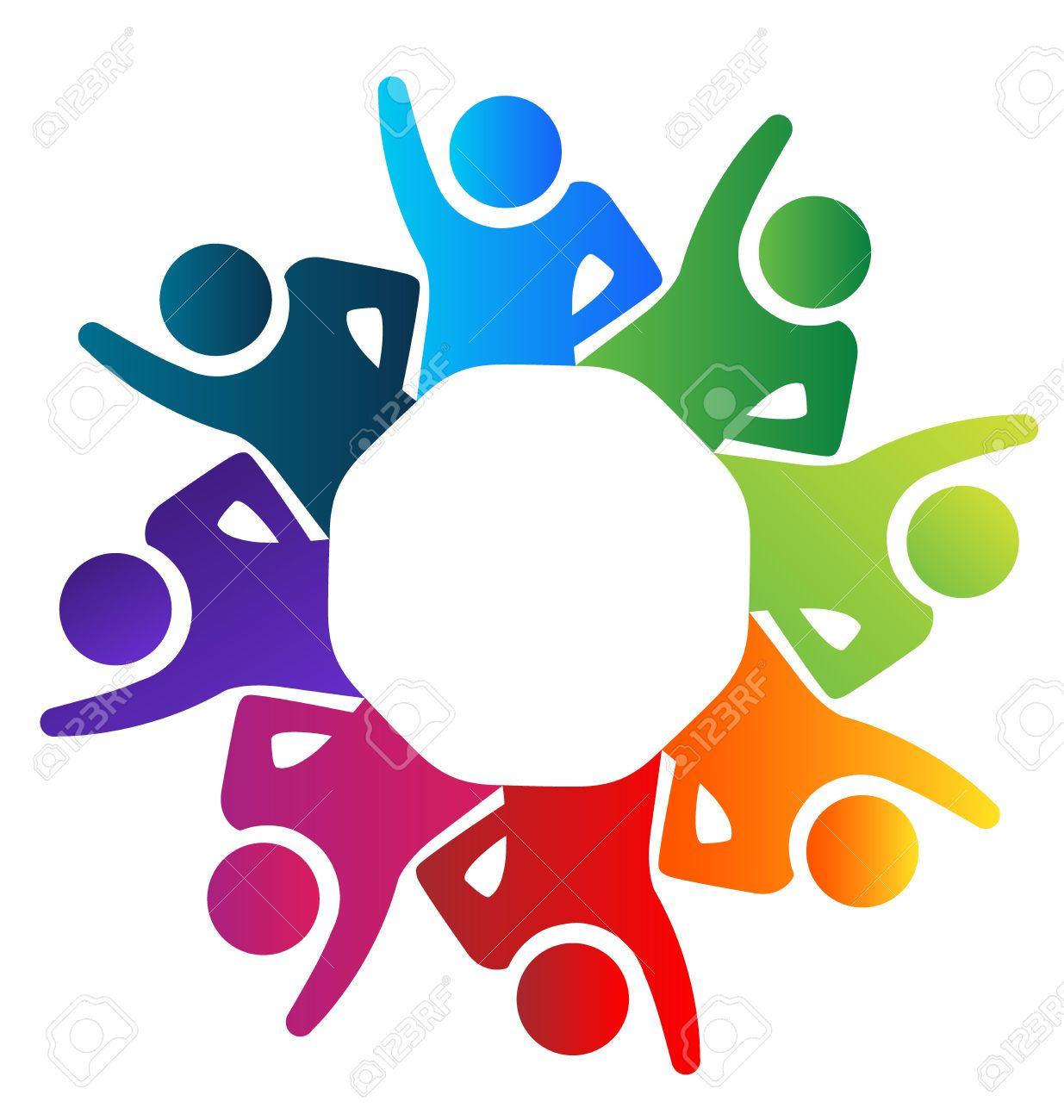 Teamwork United Voluntary People Vector Image Royalty Free Cliparts ...