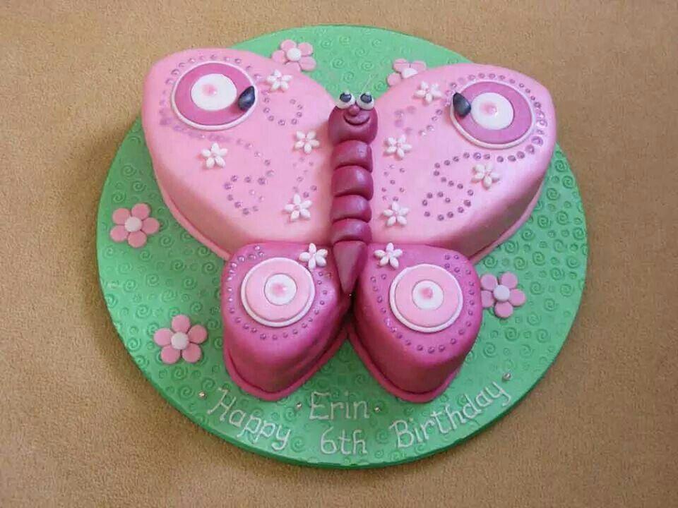 Beautiful Butterfly Cake Lakens birthday ideas Pinterest