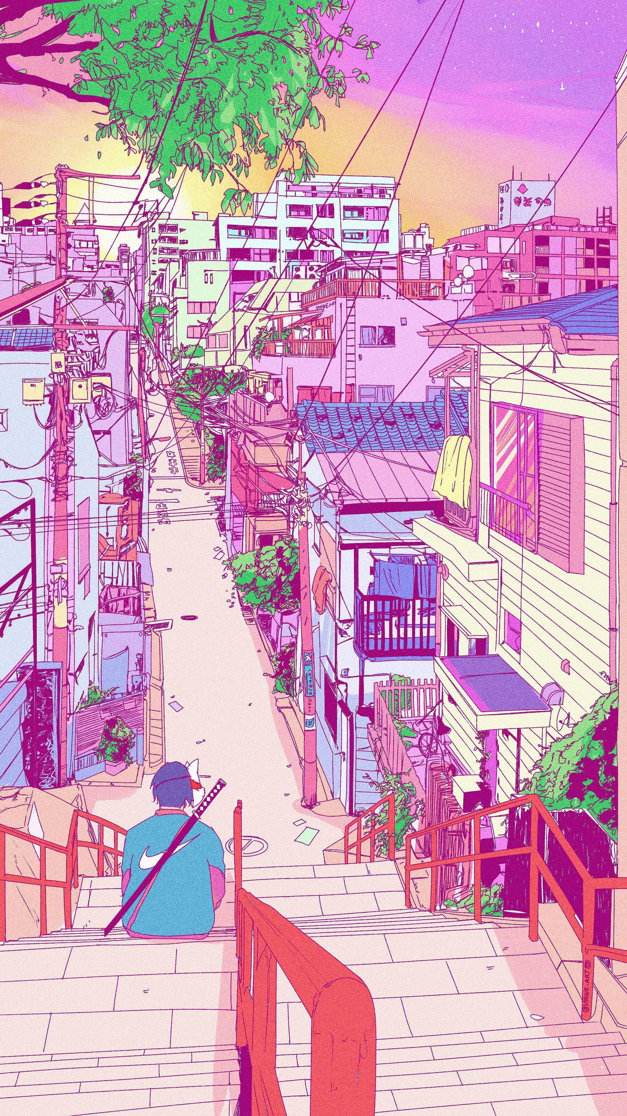 Retro Anime Wallpaper In 2020 Anime Scenery Wallpaper Scenery Wallpaper Aesthetic Wallpapers
