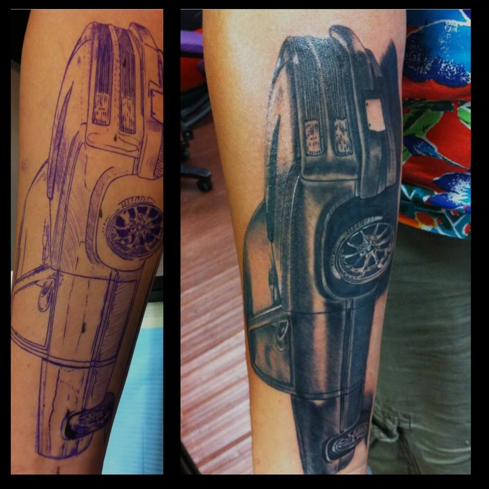 Chevy truck tattoo by guillermo tavera tattoos for Truck tattoos designs