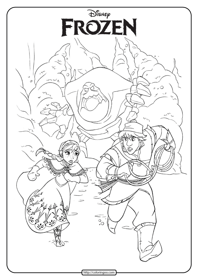 Disney Frozen Anna And Kristoff Coloring Pages Coloring Pages Disney Coloring Pages Frozen Coloring Pages