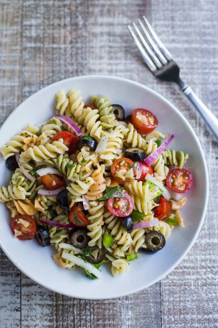 Quick & Easy VEGAN Pasta Salad this recipes comes