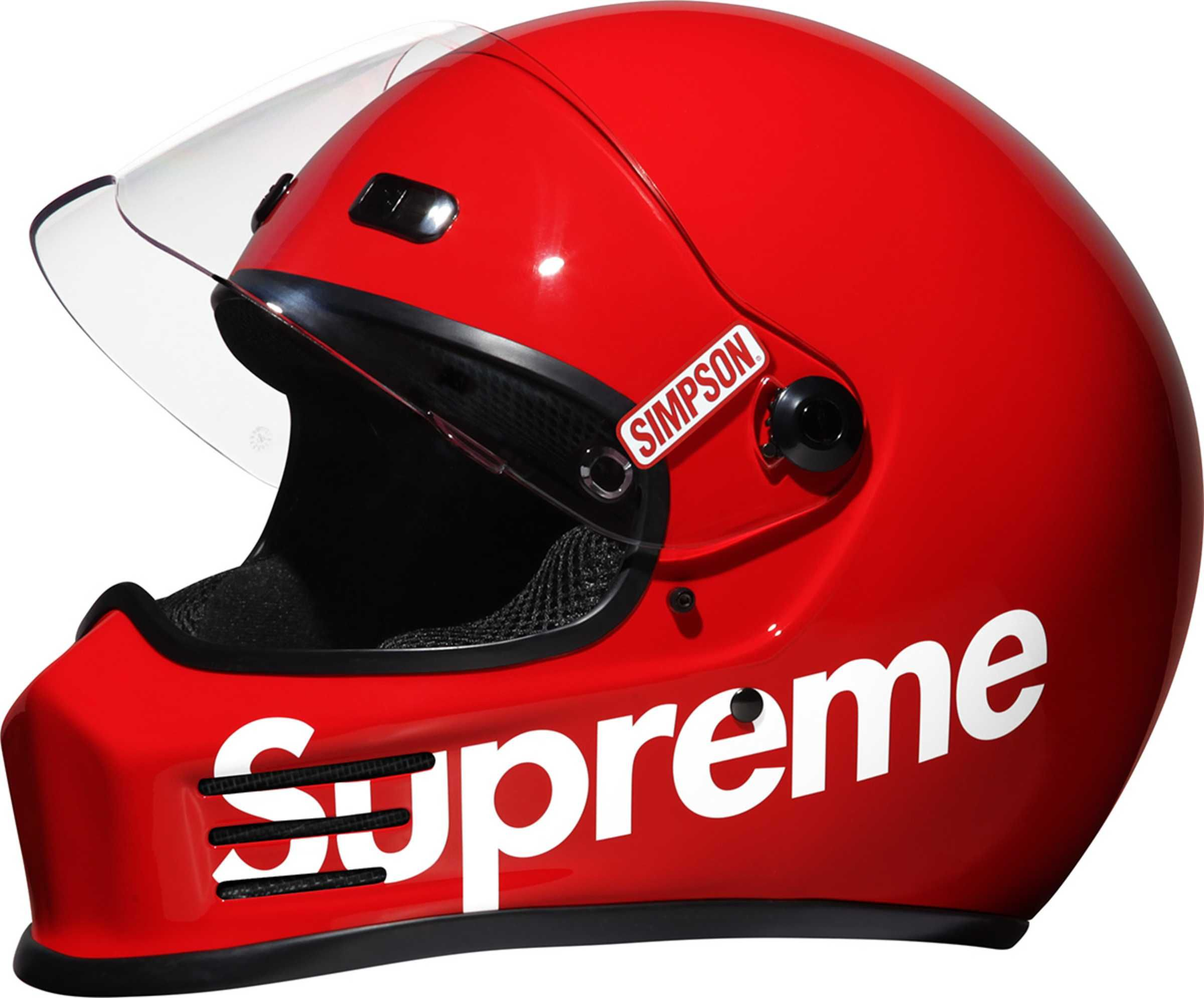 Simpson Headlines Supreme S Highly Anticipated Accessories Collection For Fall Winter 16 Red Motorcycle Helmets Helmet Red Motorcycle