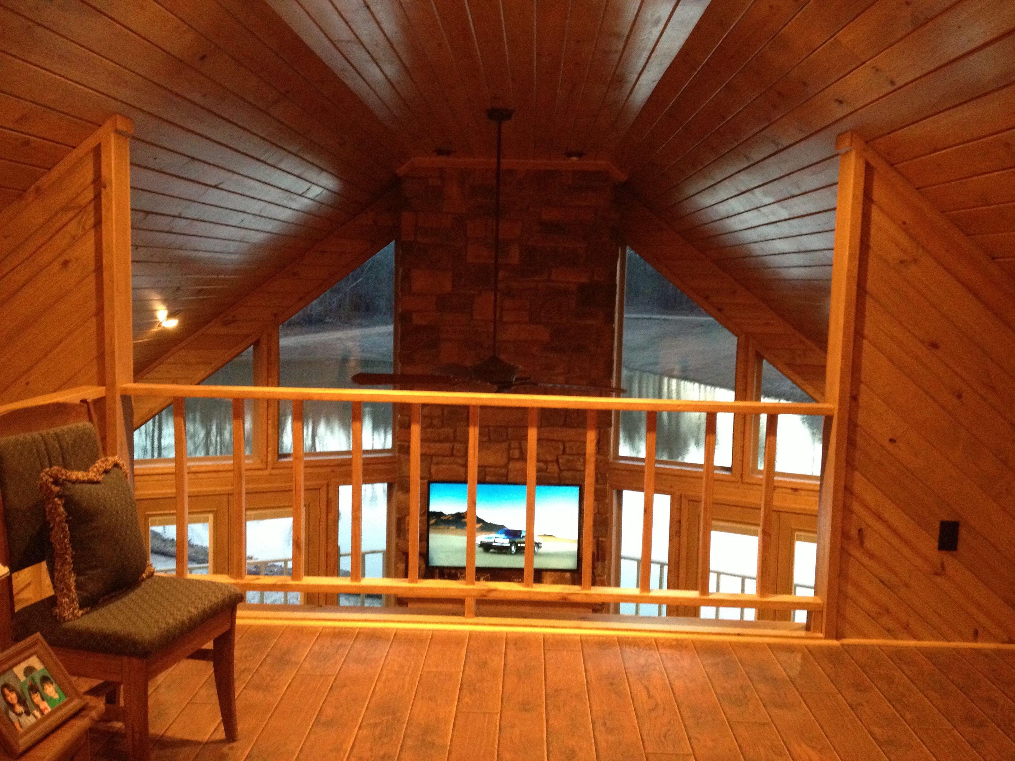 Loft Area Tongue And Groove Pine Walls And Ceiling Porch Flooring Wood Floors Wooden Porch