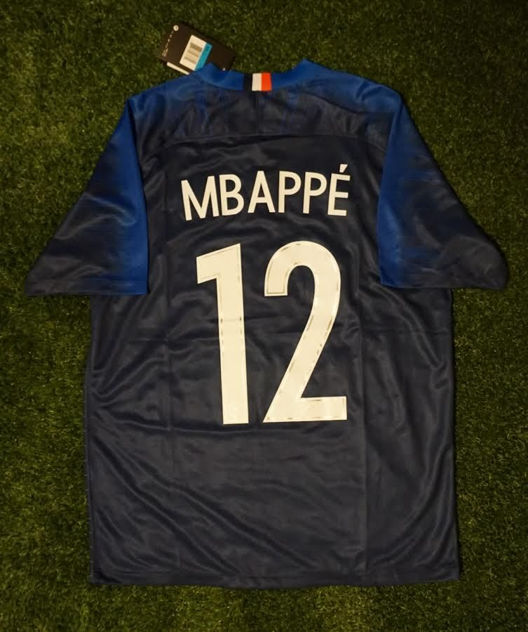 separation shoes 04b2b 0c3bc France Home Shirt - Mbappe #12 - FIFA World Cup 2018 ...