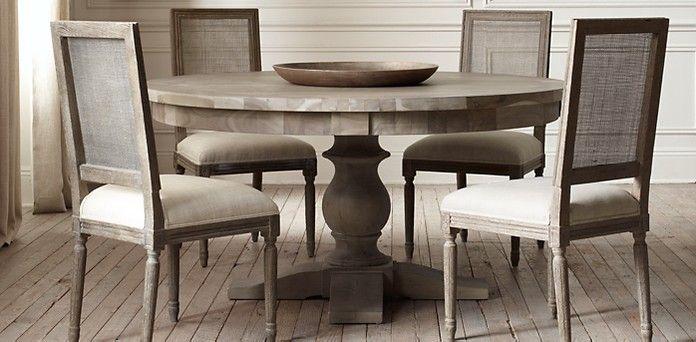 17th C. Monastery Round Table | Restoration Hardware 60 inch ...