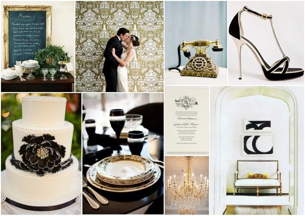 Love This Black Gold And White Color Scheme For A Wedding