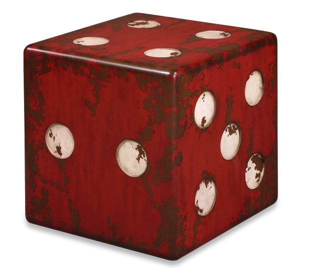 Dice Accent Table Red accent table, Accent table, Red