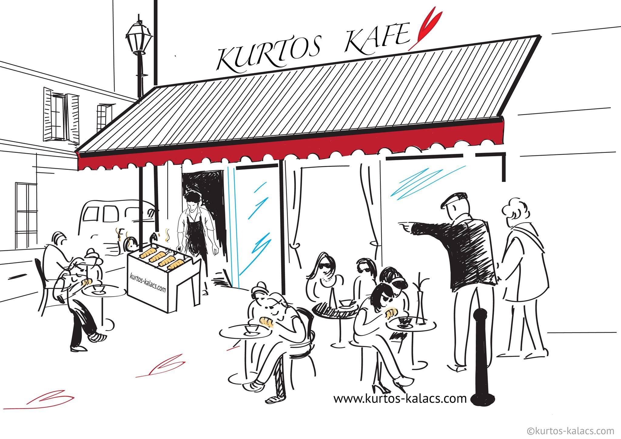 www.kurtos-kalacs.com There are so many coffee shops these days. If you want yours to stand out from the others, why not bake some fresh Kurtoskalacs outside to accompany the coffee that you sell?