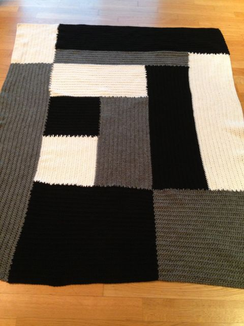 Crochet Throw Complete!   ...somewhere between the stitches...