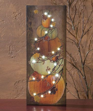 Another great find on #zulily! Pumpkin Lighted Box Sign #zulilyfinds - outdoor christmas decorations wholesale