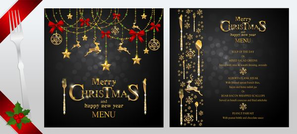 black christmas with new year menu template vector 03 free eps file black christmas with