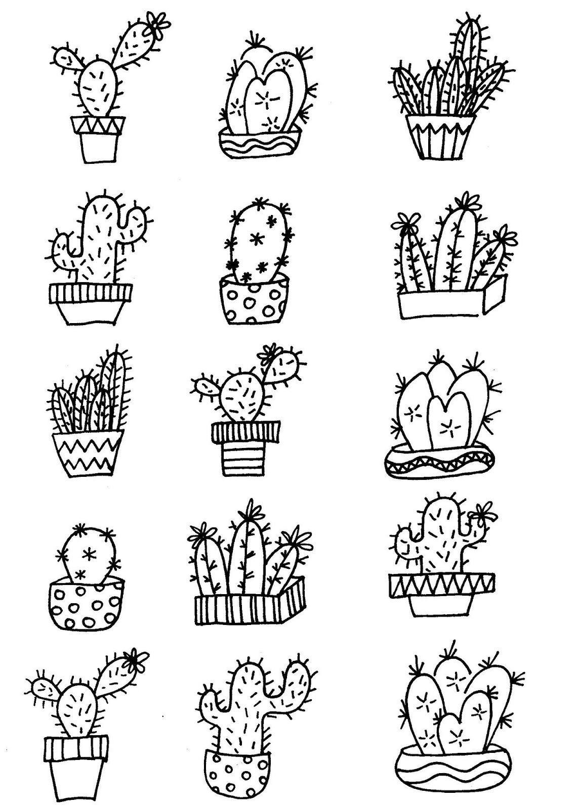 Malvorlagen Kaktus Kaktus