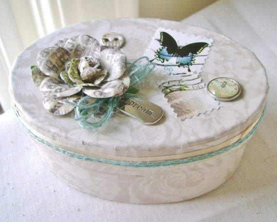 Round Decorative Boxes Custom Oval Gift Box Keepsake Box Decorative Box Wedding Box Jewelry Inspiration