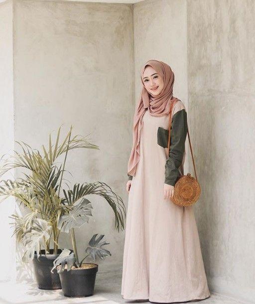 50 Inspirasi Model Baju Gamis Modern Kekinian Terbaru 2019 Wikipie Co Id Pakaian Wanita Model Pakaian Muslim Pakaian Wanita Bunga