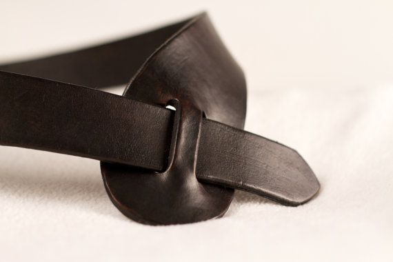 Anna Leather Belt 1 1/2 inch Brown Handcrafted by EmilysBelts, $40.00