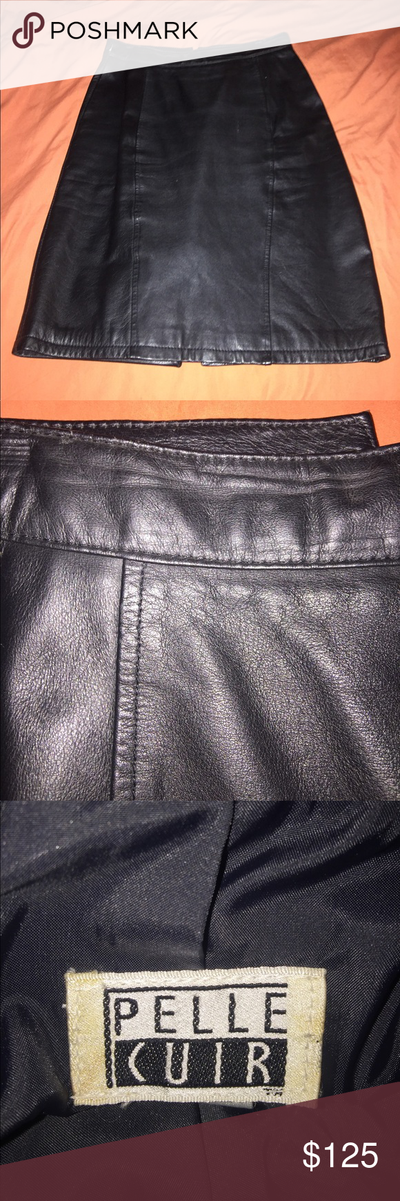 I just added this listing on Poshmark: Pelle Cuir vintage 100% leather black pencil skirt. #shopmycloset #poshmark #fashion #shopping #style #forsale #Pelle Cuir #Dresses & Skirts