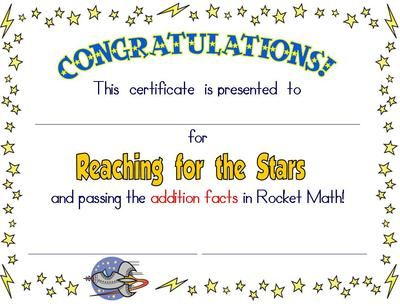 Certificates+for+Rocket+Math+from+Rockin+Teacher+Materials+on+ ...