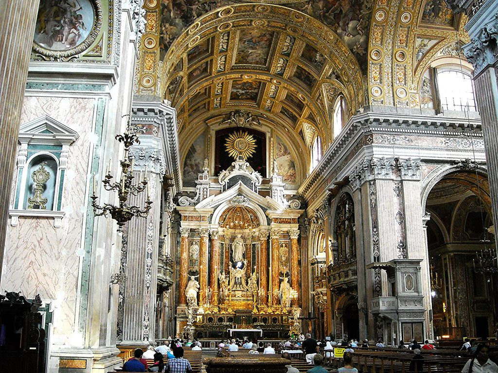 Gesù Nuovo Church in Naples (16th-17th century)