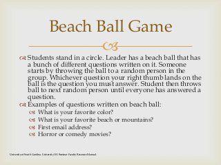 group leadership activities