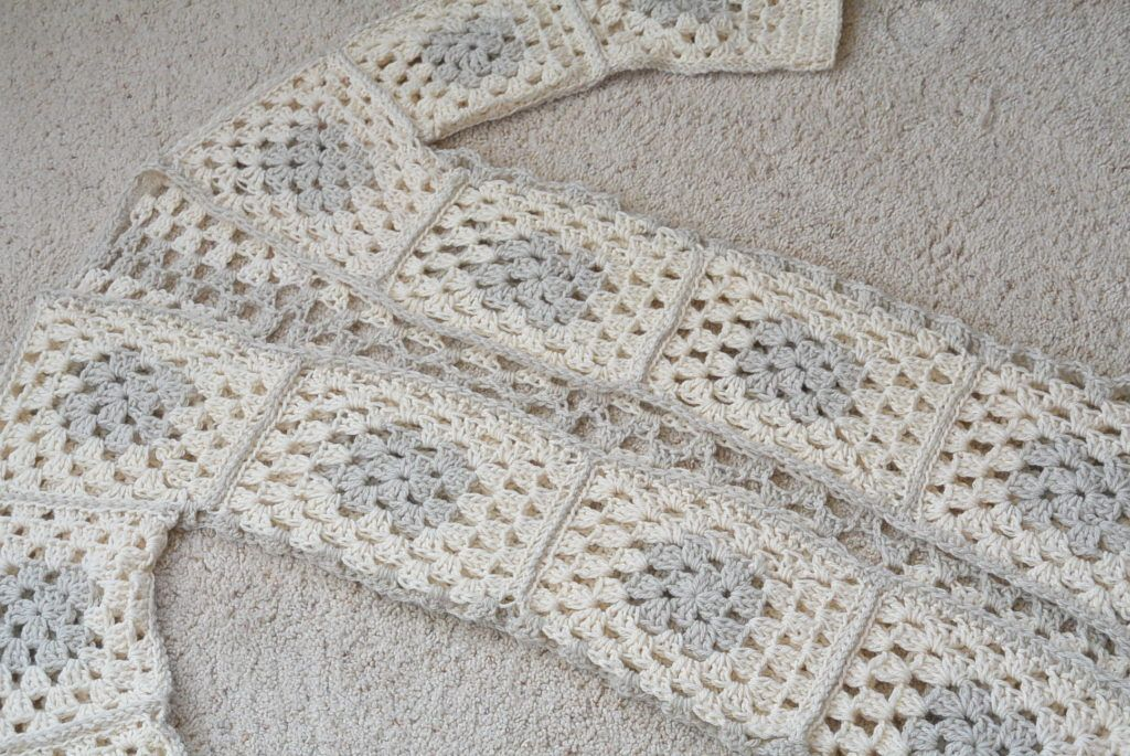 Arlo Granny Square Crocheted Cardigan Pattern