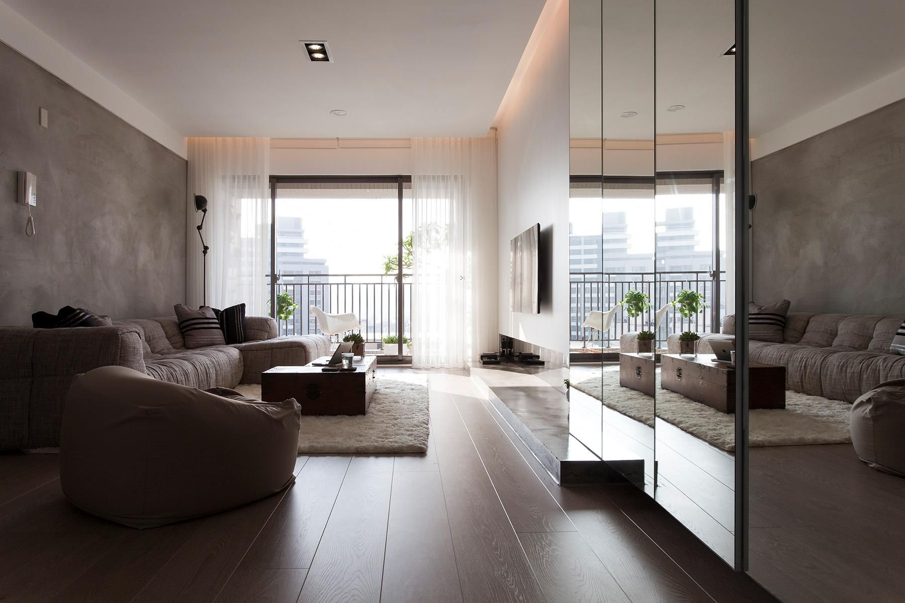 Apartment living  Contemporary Apartment in Taiwan by Fertility Design
