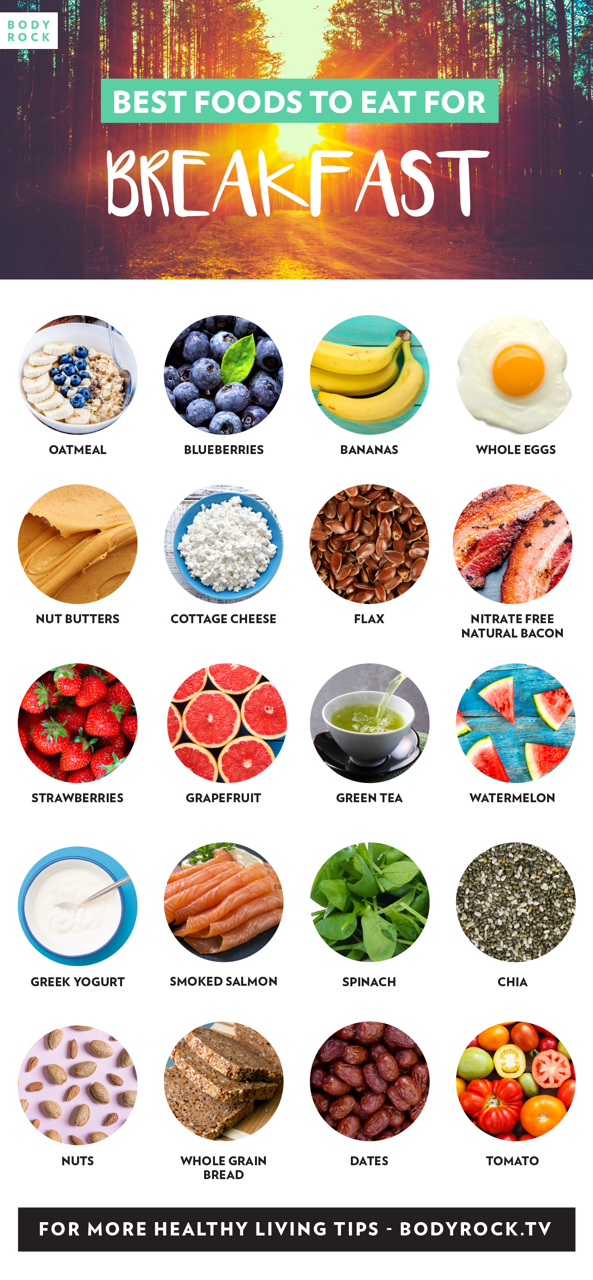 Fill Your Mornings With These Foods The BodyRock List Of Best Breakfast Start Morning Off Right Recipes Containing