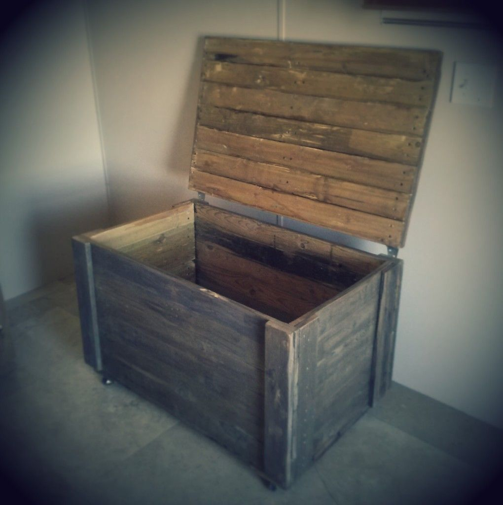 Diy rustic pallet wood storage chest wood pallets