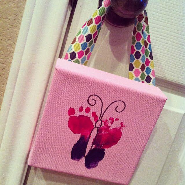 Custom Nursery Art By Kimberly Diy Easy Baby Footprint Erfly