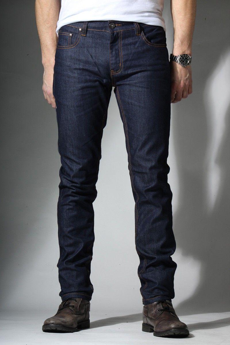 Spring St.} Mobility Skinny-Slim Jeans in Roughneck Blue | Men's ...