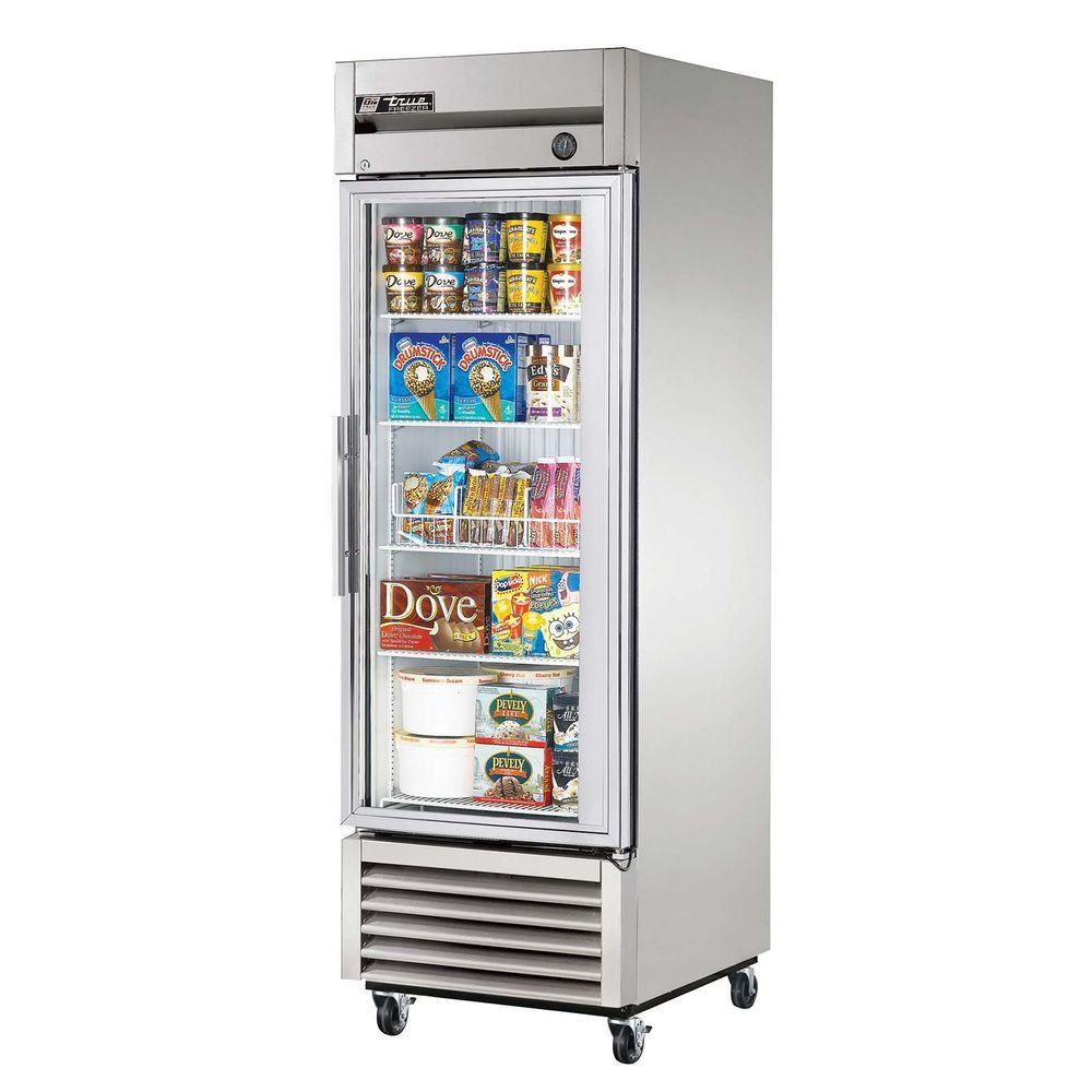 Details About True T 23fg Hc Commercial Reach In Glass Swing Door Freezer Glass Door Beer Fridge Commercial Freezer