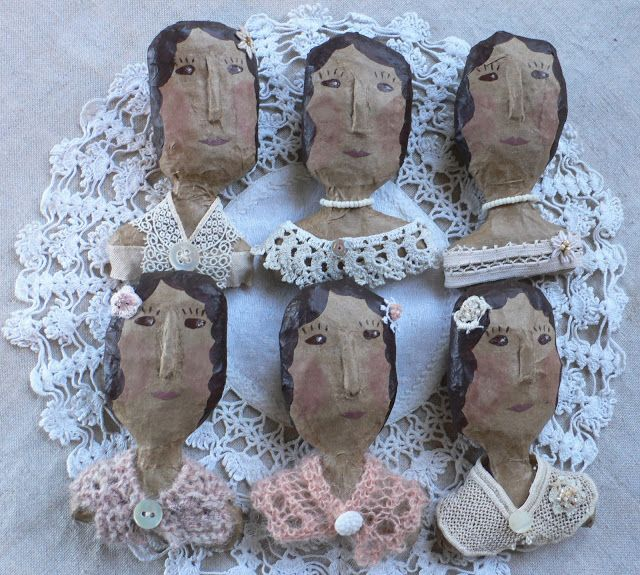 Doll brooches  by Gentlework