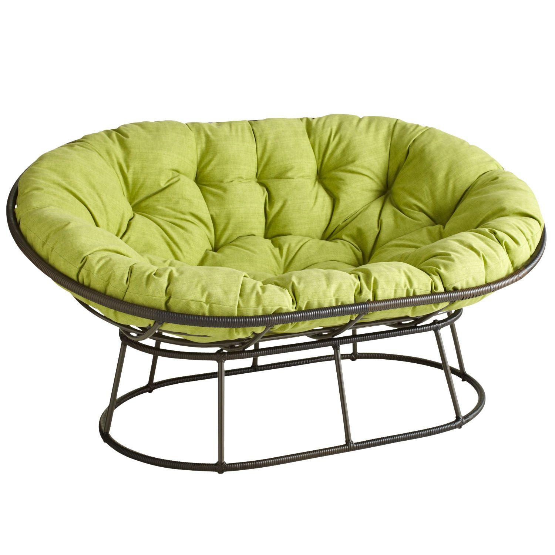 Papasan Outdoor Double Chair Frame Mocha Papasan Chair