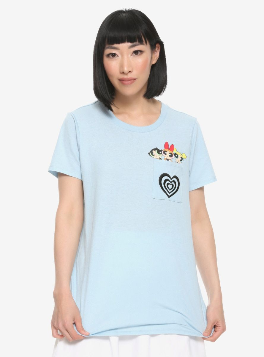 Our Universe The Powerpuff Girls Pocket Women's T-Shirt - BoxLunch Exclusive
