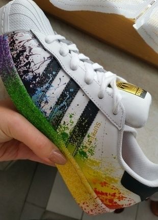 4d3a0112694018 Adidas Pride Pack superstars limited!!