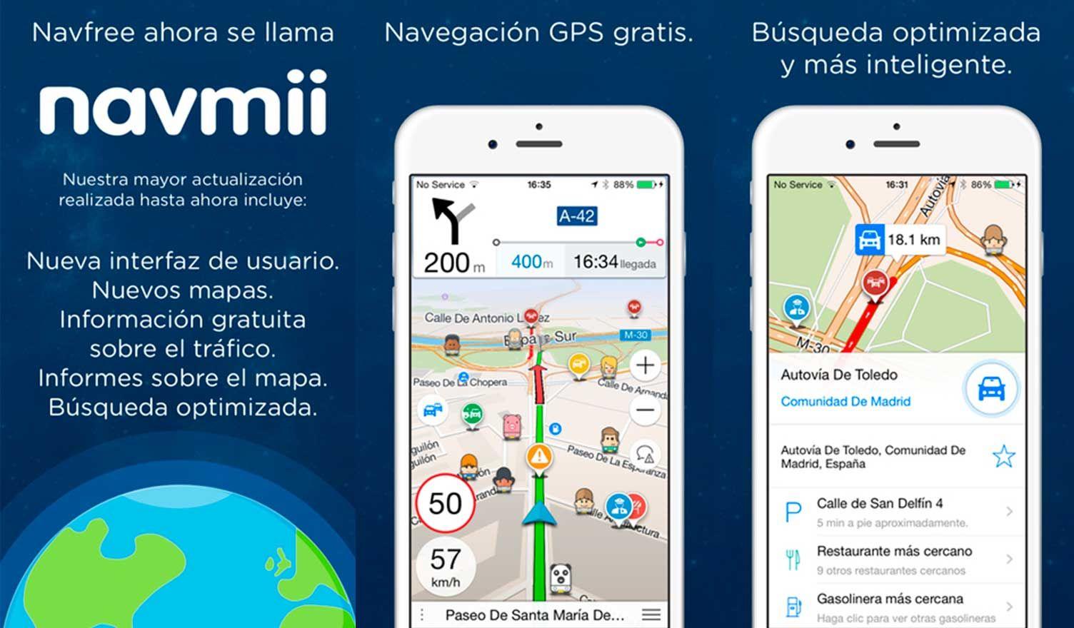 Navmii Navegador Gps Sin Internet Gratis Android O Iphone Iphone Internet Android
