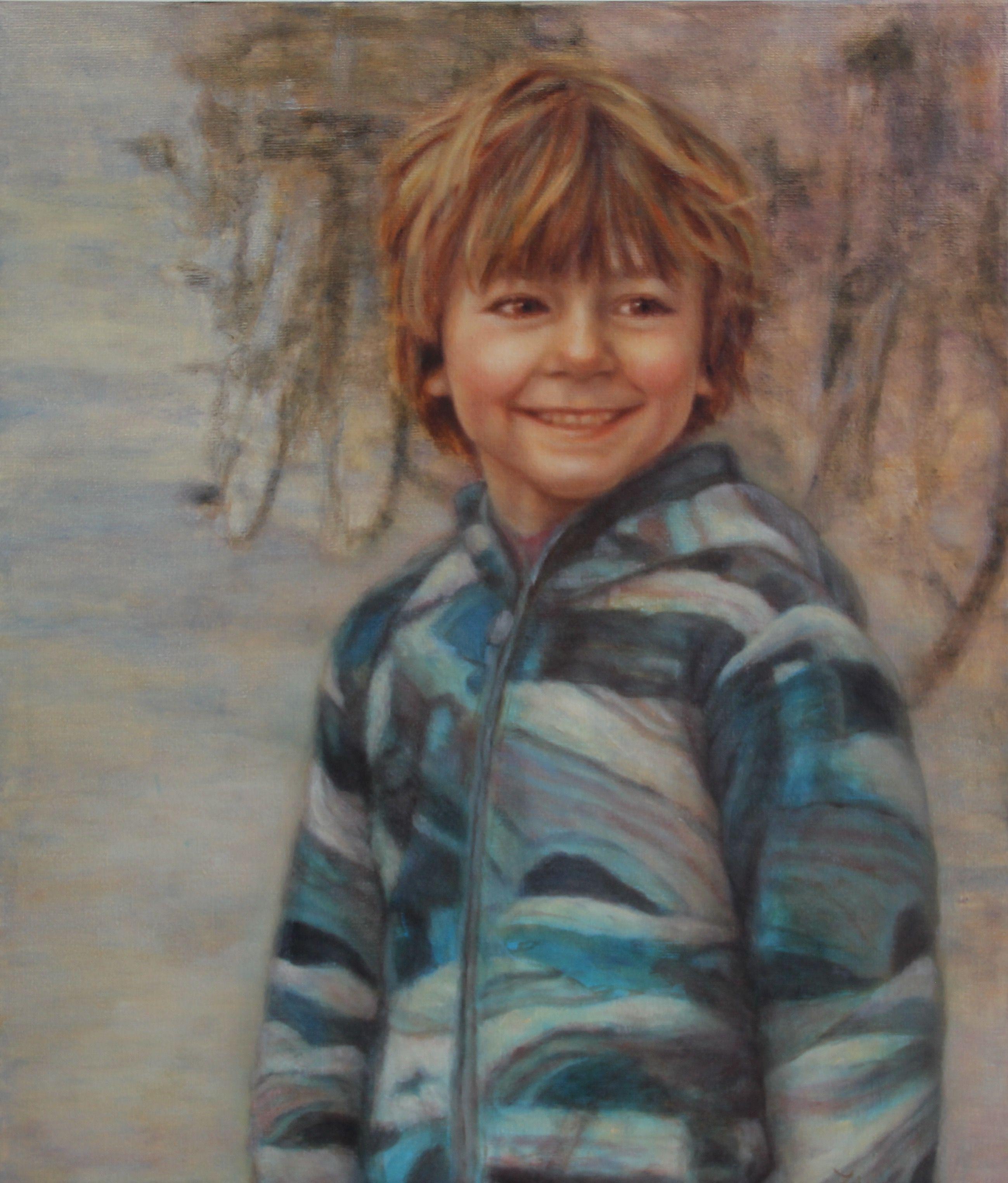 portrait painting 'Zeger', olie op doek, 70x80cm,  © Magda Zimmerman