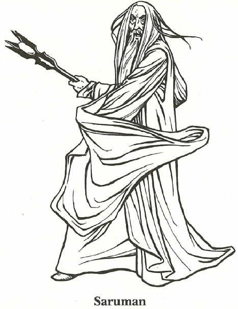 coloring page lord of the rings lord of the rings - Lord Of The Rings Coloring Book